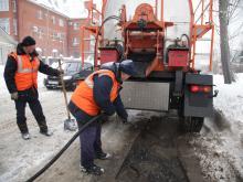 ремонт дороги зимой