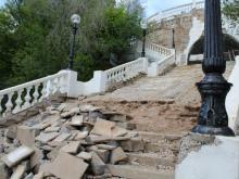 реконструкция спуска к Уралу в Оренбурге